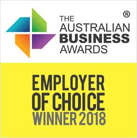 Australian Business Awards Employer of Choice Winner 2018
